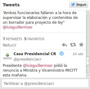 Twitts casa presidencial